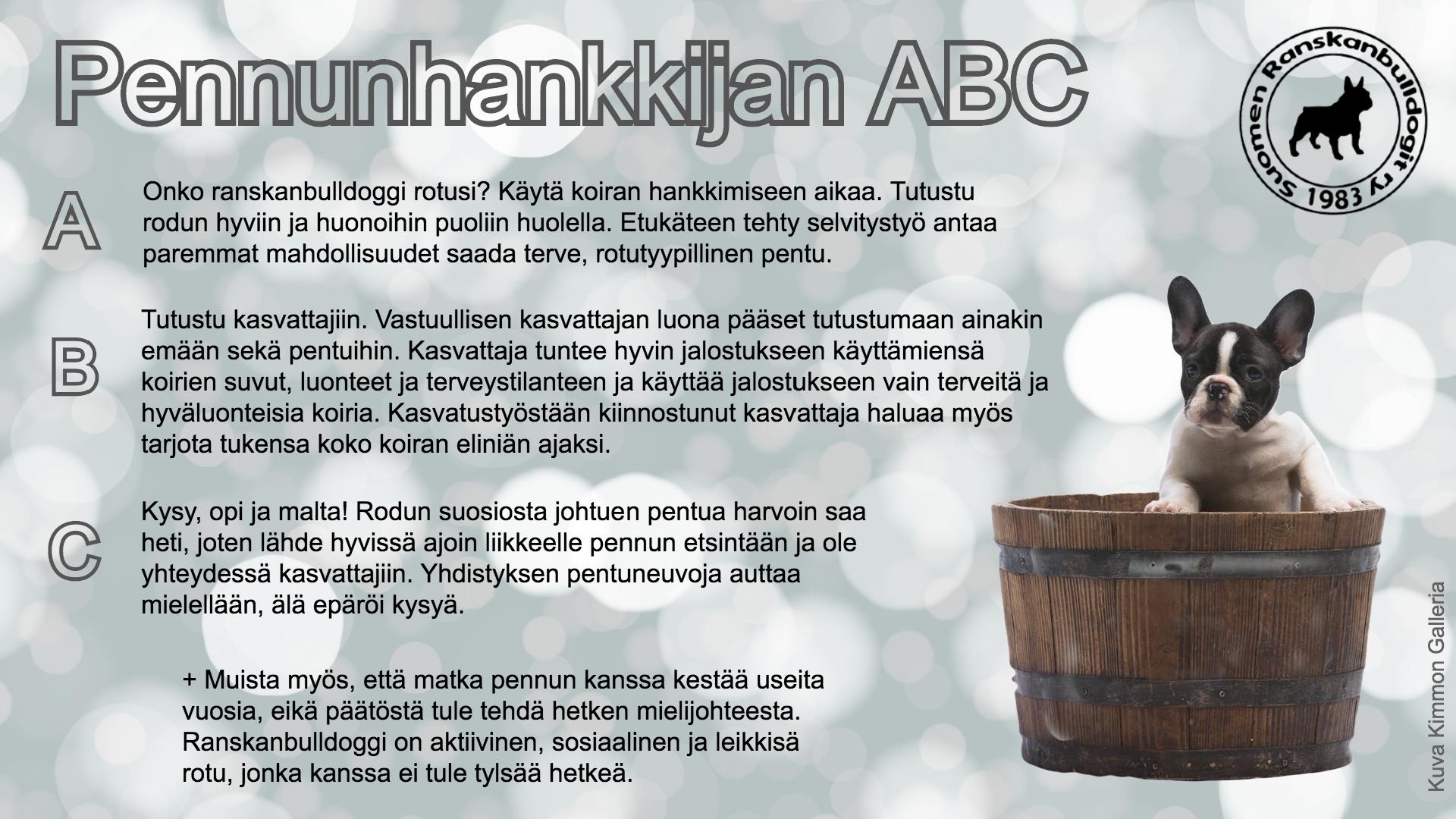 Pennunhankkijan ABC (1)